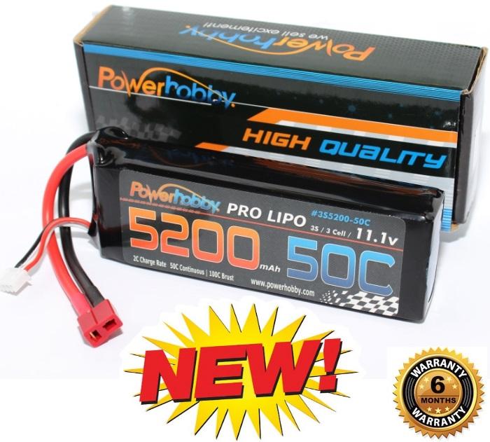 Hpi E-Firestorm 1//10 2S 7.4V 5200mAh 50C Lipo Battery w Deans Plug
