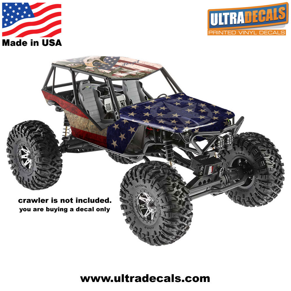 Details about USA Flag Axial Wraith Body Skin Decal Wrap Sticker 3M  Ultradecal American
