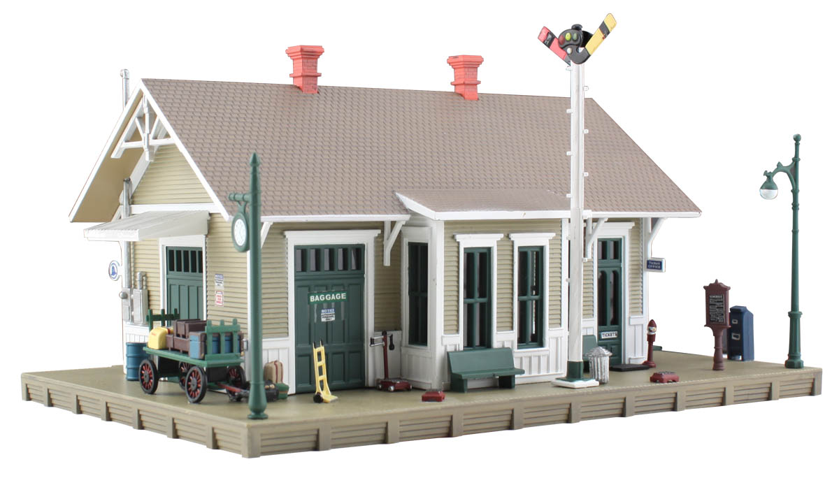 Details about Woodland Scenics BR4928 N Dansbury Depot Structure  Built-&-Ready