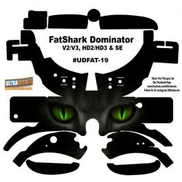 Fatshark Dominator V2 V3 Hd2 Hd3 Skin Wrap Decal Fat Shark