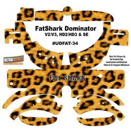 Red Carbon Fiber Fatshark Dominator V2 V3 Hd2 Hd3 Skin