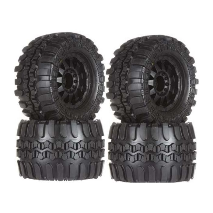 "17mm Wheels F//R Pro-Line 10111-13 Interco TSL SX Super Swamper 3.8/"" Tires 2"