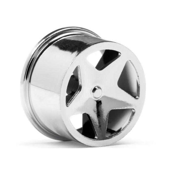 Baja Q32 Buggy Q32 4 HPI Racing 114279 Super Star Wheel Set Chrome