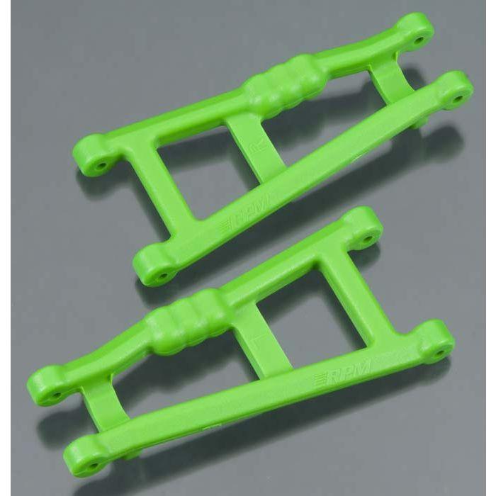 RPM80184 RPM Traxxas Rustler//Stampede Rear A-Arm Set Green 2