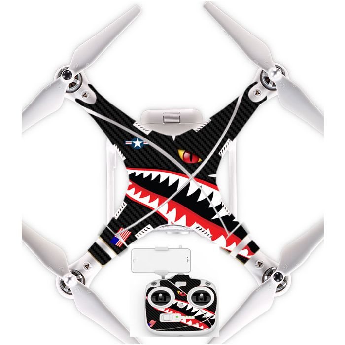 Ultradecal DJI Phantom 3 Standard Body Decal Skin Wrap Vinyl Spitfire Shark  Teeth