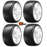 GRP GTY02-S2 1:8 GT T02 SLICK S2 XSoft Mounted Tires Spoked Yellow Wheel 2