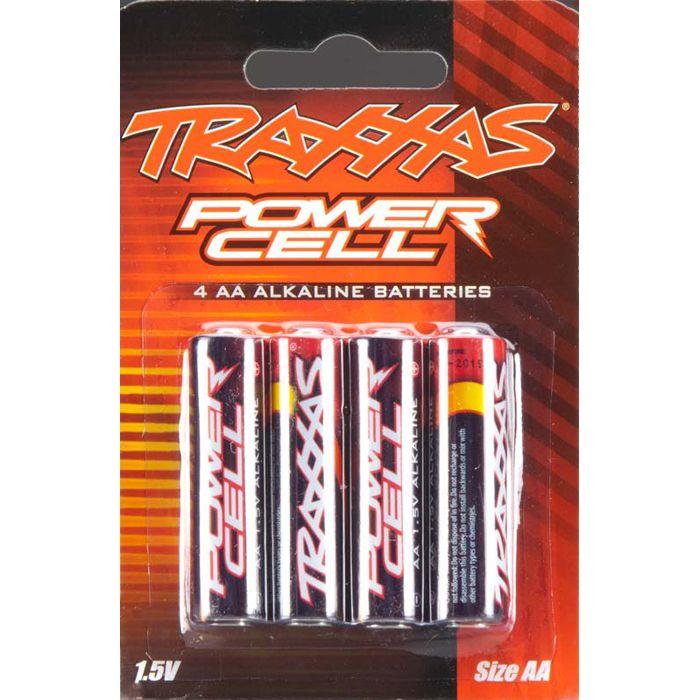 set of 4 Traxxas 2914 Power Cell AA Alkaline Batteries