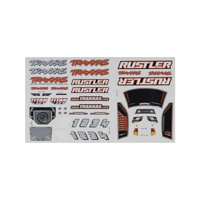 Traxxas 3716 DECAL SHEETS RUSTLER Brand NEW