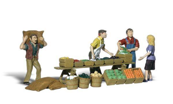 Woodland Scenics A1896 HO Train Figures Farmers Market