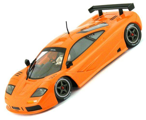 mrslotcar mclaren f1 gtr contender series orange slot car 1/32