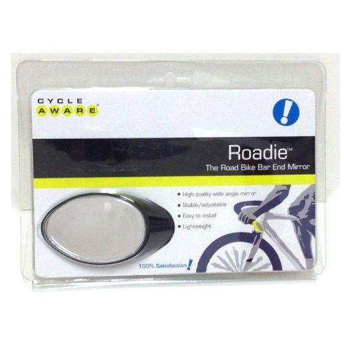 CycleAware Roadie The Road Bike Bar End Mirror Lightweight Wide Angle Handleb...
