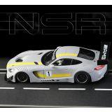 NSR Mercedes AMG GT3 Test car Gray Anglewinder 1/32 Slot Car