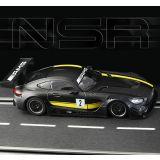 NSR Mercedes AMG GT3 Test car Black Sidewinder 1/32 Slot Car