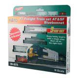 "Kato N 106-6273 RTR EMD F7 AT&SF ""Bluebonnet"" Freight Train Set"