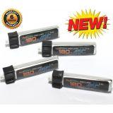 PowerHobby 1S 3.7V 180Mah 45C Lipo Battery 4 Pack