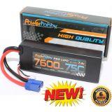 PowerHobby 2S 7.4V 7600mAh 75C Lipo Battery Pack w EC5 Plug Hard Case