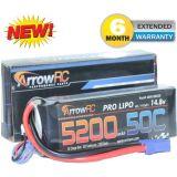 ArrowRC 4S 14.8V 5200mAh 50C Lipo Battery Soft Case 4-Cell w EC5 Plug