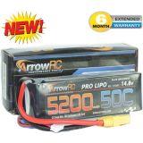 ArrowRC 4S 14.8V 5200mAh 50C Lipo Battery Soft Case w XT90 Plug