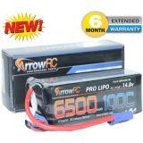 ArrowRC 4S 14.8V 6500mAh 100C Lipo Battery w EC5 Plug Soft Case 4-Cell