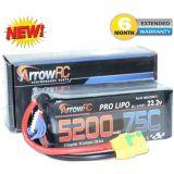 ArrowRC 6S 22.2V 5200mAh 75C Lipo Battery Soft Case w XT90 Plug