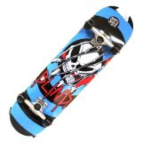"Blind Skateboard Graphic Completed Blue Red Black Skull 7.75"" x 31"" Polish Skateboard"