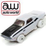 Auto World iWheels Dodge Challenger White Thunderjet Tjet AFX Ho slot Car