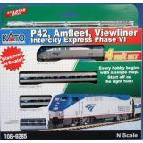 Kato 106-6285 N P42 Amfleet Viewliner Intercity Express Phase VI 4-Car Set