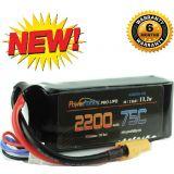 Powerhobby 3S 11.1V 2200mAh 75C Lipo Battery Pack w XT60 Plug 3-Cell