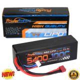 Powerhobby 3s 11.1v 5400mah 100c lipo Battery w Deans Plug Hard Case