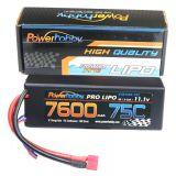 Powerhobby 3s 11.1v 7600mah 75c Lipo Battery w Deans Plug Hard Case