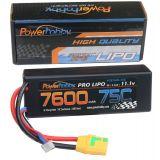 Powerhobby 3s 11.1v 7600mah 75c Lipo Battery w XT90 Plug Hard Case