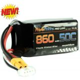 Powerhobby 3S 11.1V 860mAh 50C Lipo Battery XT30 Connector / Plug