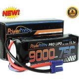 PowerHobby 3S 11.1V 9000mAh 75C Lipo Battery Pack w EC5 Plug