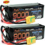 PowerHobby 3S 11.1V 9000mAh 75C Lipo Battery Pack w XT90 Plug ( 2 Pack)