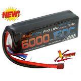 Powerhobby XTREME 4S 14.8V 6000mah 150c-300C Lipo Battery W XT90 4-Cell