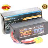 PowerHobby 4S 14.8V 7400mAh 100C-200C Lipo Battery XT90 Plug 4-Cell Hard Case
