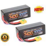 PowerHobby 4S 7400mAh 100C-200C Lipo Battery XT90 Plug 4-Cell Hard Case (2)