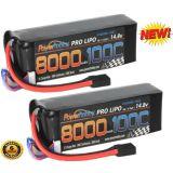 Powerhobby 4s 14.8v 8000mah 100c Lipo Battery GENUINE Traxxas Plug X-Maxx 8s (2)