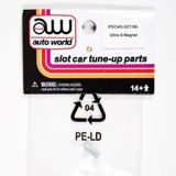 Auto World 4Gear Chassis Tuneup Parts Ultra-G Magnet 6pc Ho Slot Car