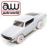 Auto World iWheels Ford Torino GT White Thunderjet Tjet AFX Ho slot Car