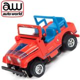 Auto World Jeep CJ-5 Red Xtraction Off Road AFX Ho Scale Slot Car SC335
