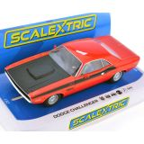 Scalextric C4065 Dodge Challenger Red & Black 1/32 Slot Car DPR