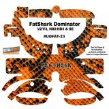 FatShark Dominator V2 V3 HD2 HD3 Skin Wrap Decal Fat Shark Snake Skin