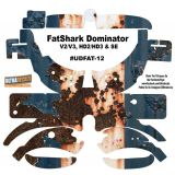 FatShark Dominator V2 V3 HD2 HD3 Skin Wrap Decal Fat Shark Rusted Paint