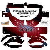 FatShark Dominator V2 V3 HD2 HD3 Skin Wrap Decal Fat Shark Red Honeycomb