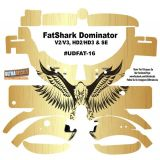 FatShark Dominator V2 V3 HD2 HD3 Skin Wrap Decal Fat Shark Gold Eagle