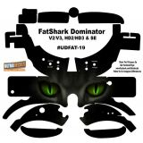 FatShark Dominator V2 V3 HD2 HD3 Skin Wrap Decal Fat Shark Green Cat Eyes