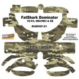 FatShark Dominator V2 V3 HD2 HD3 Skin Wrap Decal Fat Shark Army Camouflage