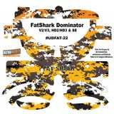 FatShark Dominator V2 V3 HD2 HD3 Skin Wrap Decal Fat Shark Yellow Camouflage