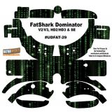 FatShark Dominator V2 V3 HD2 HD3 Skin Wrap Decal Fat Shark Matrix